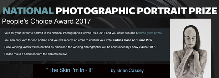 "National Photographic Portrait Prize 2017 - ""The Skin I'm In - II"" - by Brian Cassey"